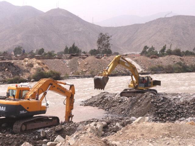 Río Rímac: culminan limpieza y descolmatación en un tramo de la cuenca en Ate