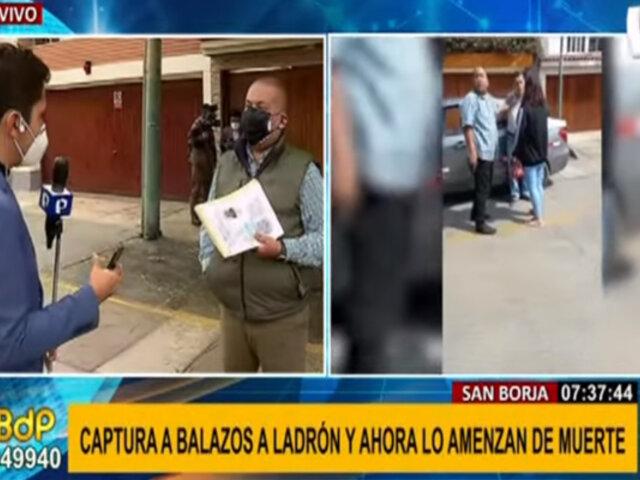 San Borja: hombre pide garantías tras recibir amenazas de muerte por frustrar robo a su madre