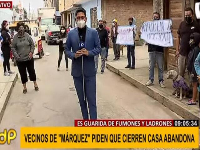 Callao: Vecinos piden cerrar casa abandonada que sería refugio de drogadictos y ladrones