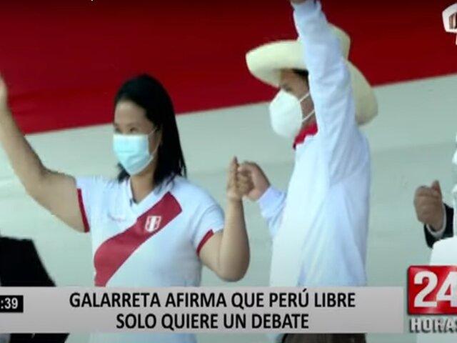 Luis Galarreta afirma que los miembros de Perú Libre sólo quieren un debate presidencial