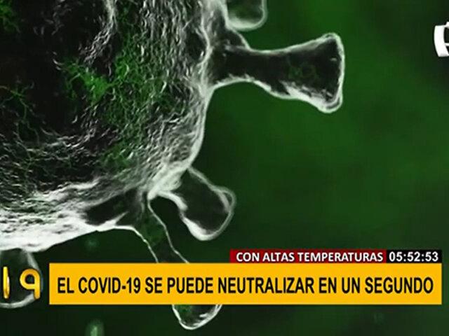 ¿COVID-19 se podría neutralizar? estudio asegura que esto es posible
