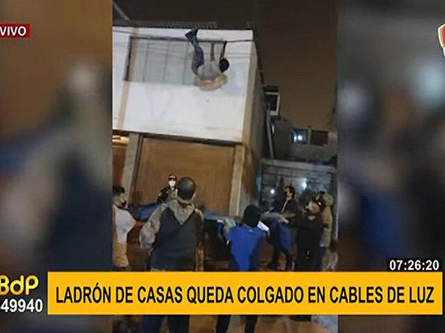 Ladrón que quedó colgado en cables de luz tendría un cómplice que sigue en libertad