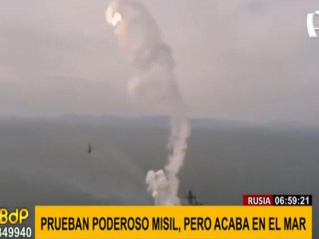 Lanzamiento fallido: Prueban poderoso misil, pero termina en el mar