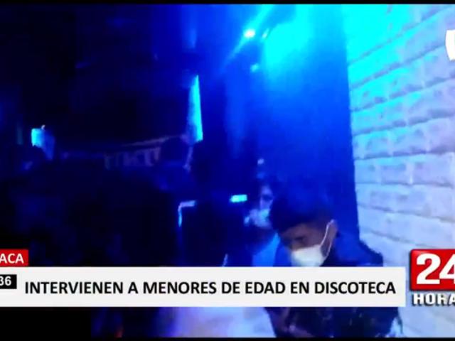 Juliaca: encuentran varios menores de edad en discoteca clandestina