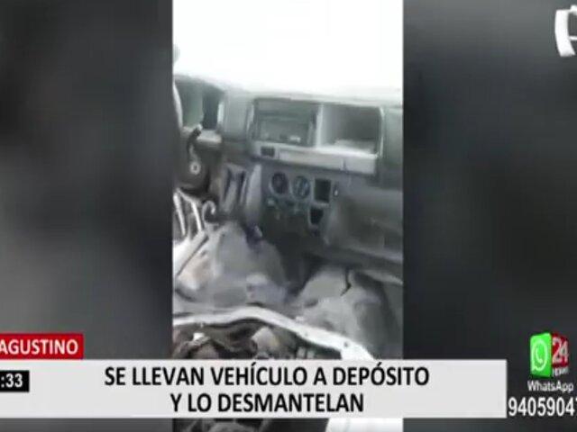 El Agustino buscará un acuerdo con dueño de vehículo desmantelado en depósito municipal