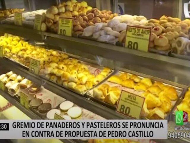 Gremio de panaderos se pronuncia en contra de proyecto de Pedro Castillo