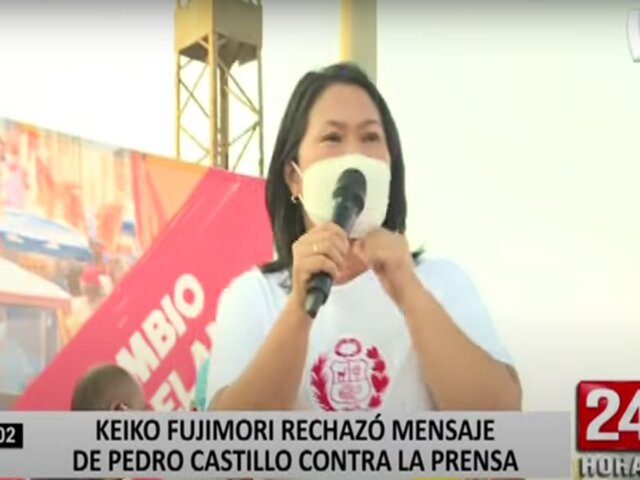 "Keiko Fujimori solicita a Castillo que participe de debates: ""No te chupes Pedro, no te chupes"""