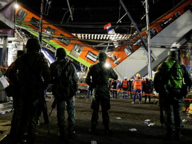 Tragedia en México: se eleva a 25 los muertos por derrumbe de un tramo del metro