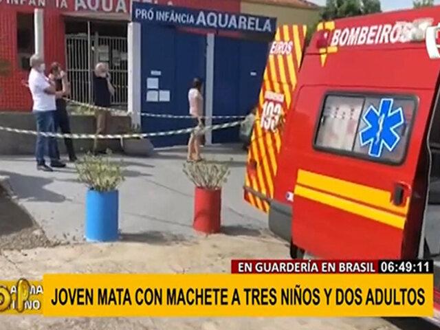Masacre en Brasil: joven mata a tres niños y dos adultos con un machete en guardería