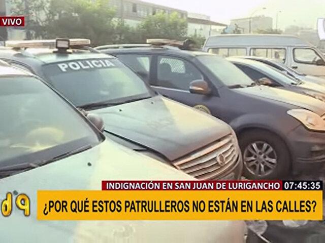 SJL: decenas de patrulleros son abandonados en los exteriores de las comisarías