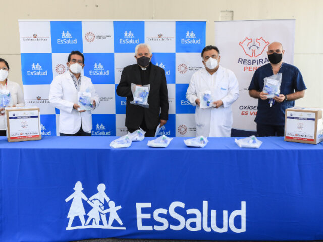 Covid-19: EsSalud recibe en donación 40 respiradores mecánicos de uso temporal