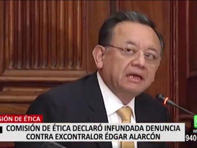 Comisión de Ética absuelve a Edgar Alarcón y evaluará sancionar a Olivares por consumir marihuana