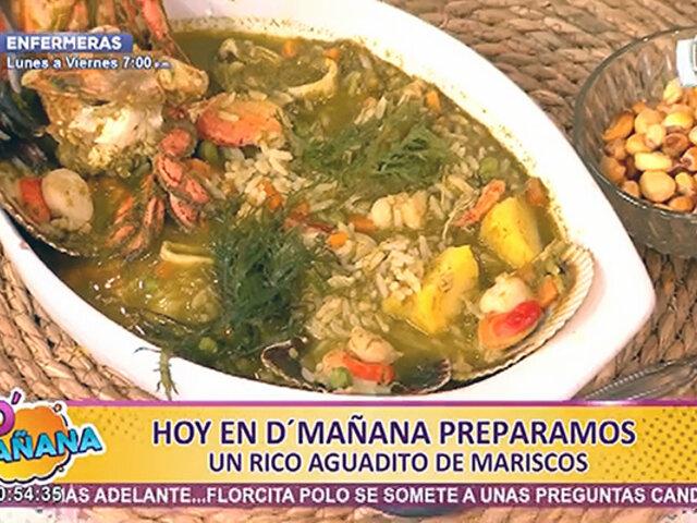 D'Mañana sorprende con una exquisita receta: aguadito de mariscos