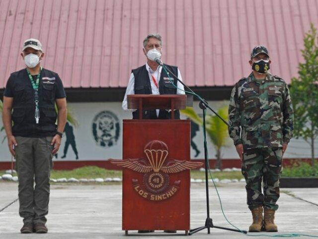 Sagasti: Gobierno dejará ruta clara en lucha contra las drogas