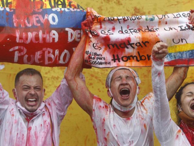 """Colombia: Iván Duque llama a un diálogo con """"todos los sectores"""" por violentas protestas"""