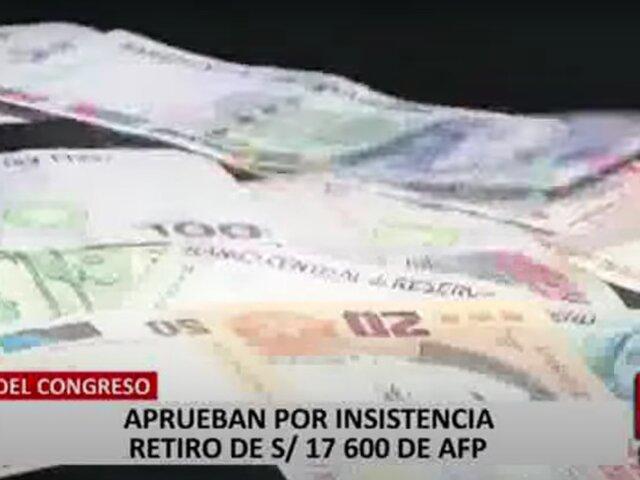 5 millones de personas se quedarían sin pensión tras ley de retiro de AFP, según exministro