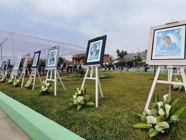 Ate: municipio rinde homenaje a empleados que murieron víctimas del Covid-19