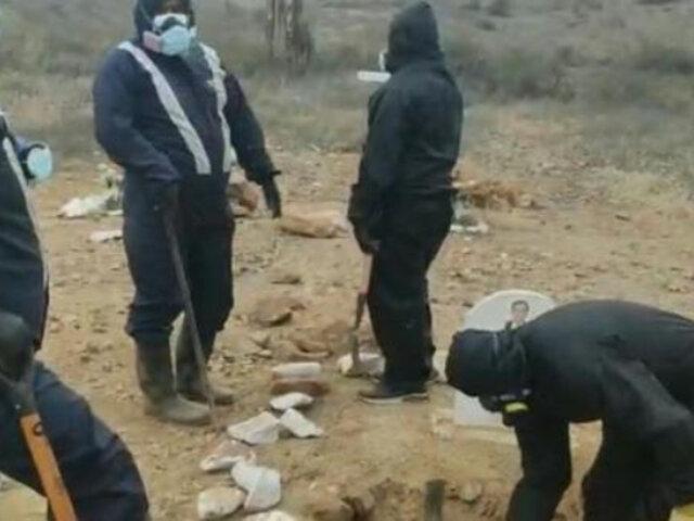 Lambayeque: denuncian que parientes fallecidos por covid-19 no estaban en sus tumbas tras exhumarlos