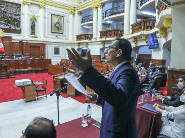 Caso 'Richard Swing': Congreso aprueba informe que recomienda inhabilitar a Vizcarra