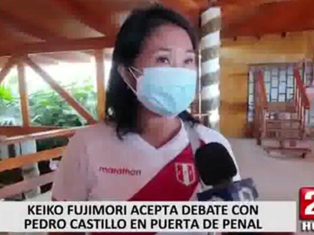 Keiko Fujimori aceptó propuesta de Castillo para debatir en la puerta del penal