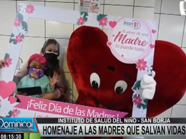 Día de la Madre: realizan homenaje a mamás de pacientes del INSN San Borja