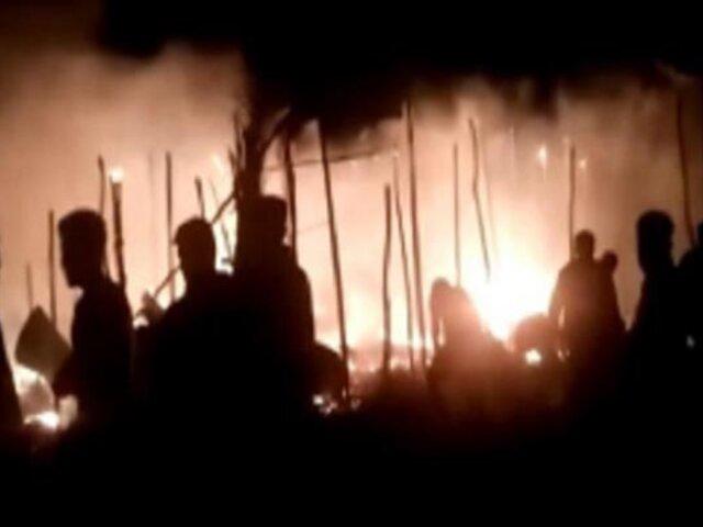 Piura: voraz incendio deja diez familias damnificadas en asentamiento humano Primavera