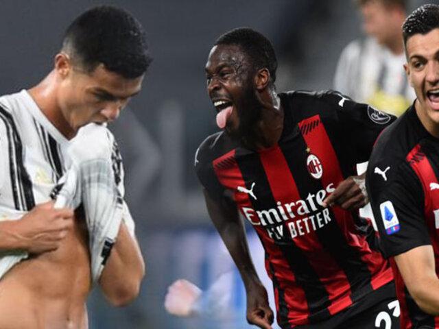 Juventus cayó goleado por 3-0 ante Milan por la Serie A de Italia
