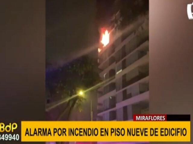 Miraflores: alarma por incendio en piso nueve de edificio