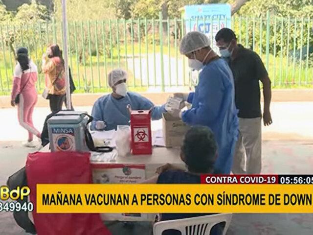 Vacunación a personas con síndrome de Down: no debe ser requisito contar con tarjeta del Conadis