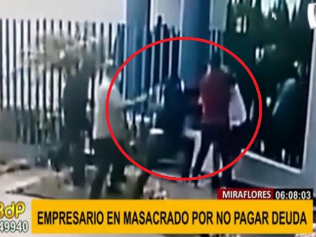 Miraflores: empresario fue masacrado por cinco sujetos por no pagar deuda