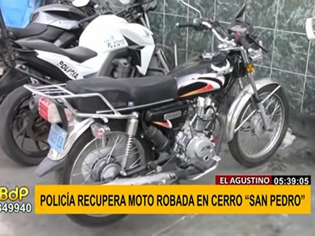 El Agustino: Policía halla en 24 horas moto robada gracias al GPS del vehículo