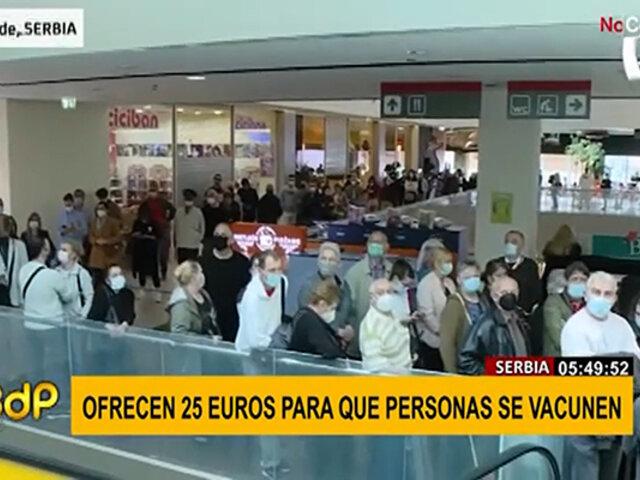 Serbia: gobierno incentiva a la población ofreciendo 25 euros por vacunarse