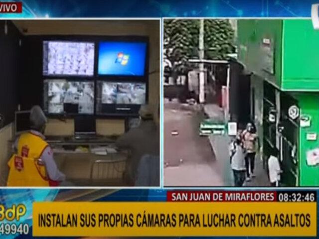 SJM: vecinos instalan más de 300 cámaras para combatir constantes asaltos