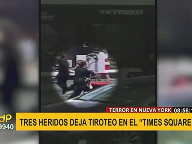 Nueva York: tiroteo registrado en Times Square deja tres muertos y una niña herida