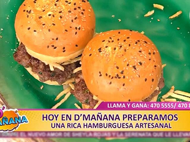 Receta D'Mañana: hoy preparamos una exquisita hamburguesa artesanal