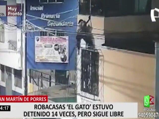 """SMP: delincuente conocido como """"el Gato"""" trepa casas para robar, pero sigue libre"""