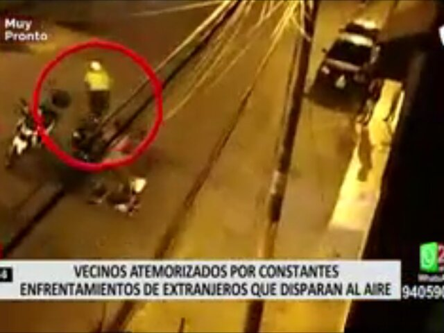 Ate: vecinos atemorizados por extranjeros que realizaron disparos al aire