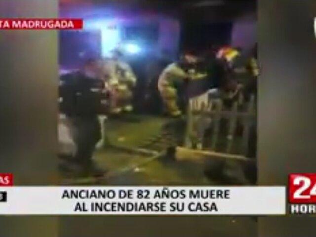 Cerraduras dificultaron la labor de los bomberos para atender incendio donde murió un anciano