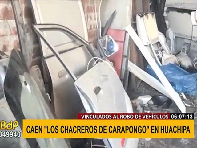Huachipa: cae banda delictiva vinculada al robo de vehículos