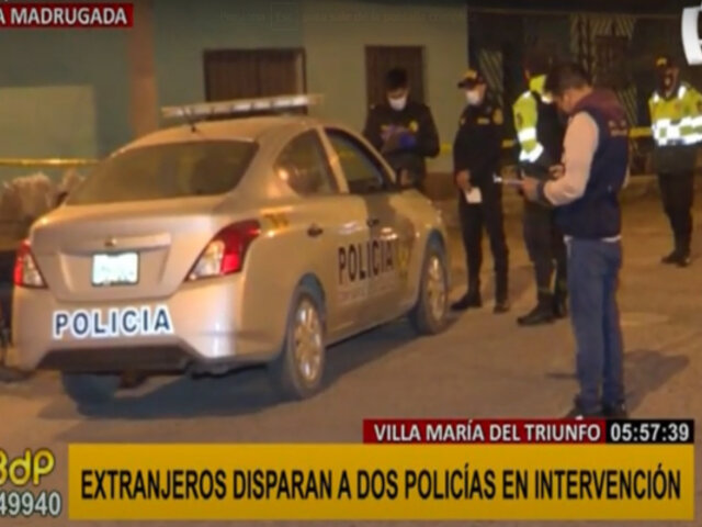 VMT: policías resultaron heridos tras intensa persecución a dos presuntos delincuentes