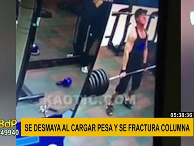 VIRAL: Hombre se fractura columna mientras levanta enormes pesas
