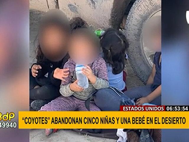 """EEUU: """"coyotes"""" abandonan a cuatro niñas y un bebé en medio del desierto"""