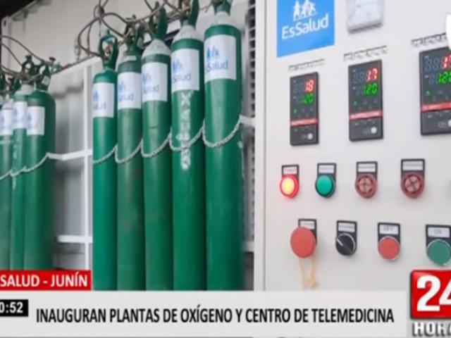 Essalud Junín inaugura plantas de oxígeno y centro de telemedicina