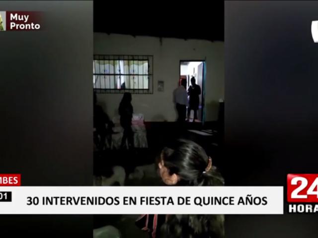 Tumbes: policía intervino quinceañero con más de 30 personas