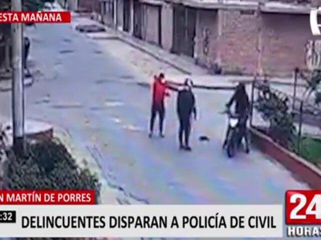 Policía vestido de civil intentó frustrar robo pero delincuentes lo balearon en SMP
