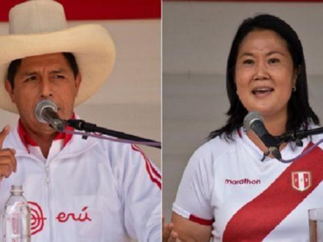 Última encuesta de IEP de intención de voto: Pedro Castillo 36,5% y Keiko Fujimori 29,6%