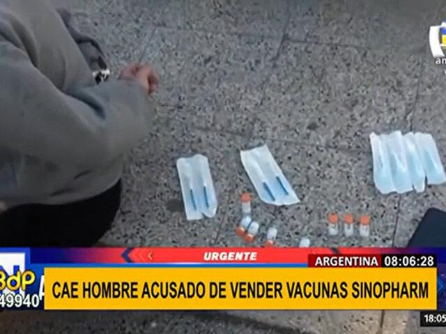 Argentina: detienen a hombre que vendía supuestas vacunas Sinopharm