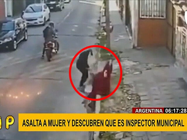 Argentina: delincuente que asaltó a mujer recibía sueldo como inspector municipal