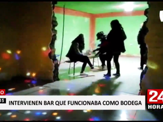 Puno: intervienen bar clandestino que funcionaba con fachada de bodega