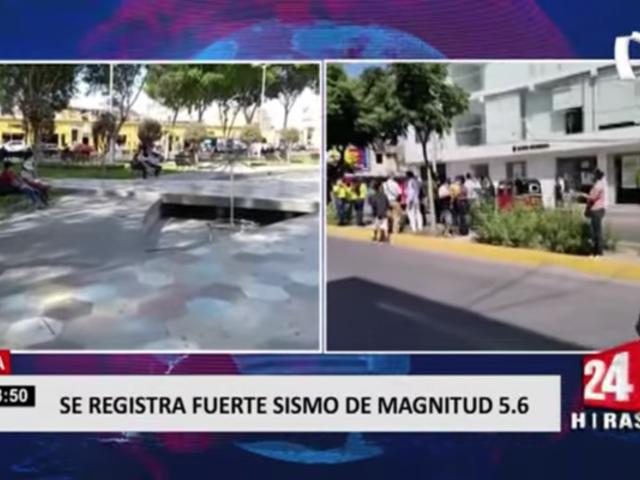 Sismo en Ica: pánico se apoderó de ciudadanos y tráfico se paralizó